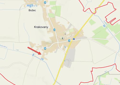 Mapa Krakovany